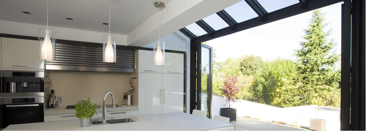 Let in the light with our <br><strong>beautiful bi-folding door range</strong>